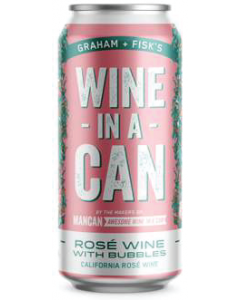 Firehouse Wine-In A-Can California Rose Wine With Bubbles